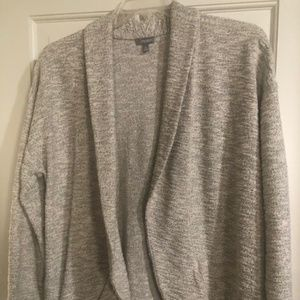 Talbots open front cardigan with Metalic Stitching
